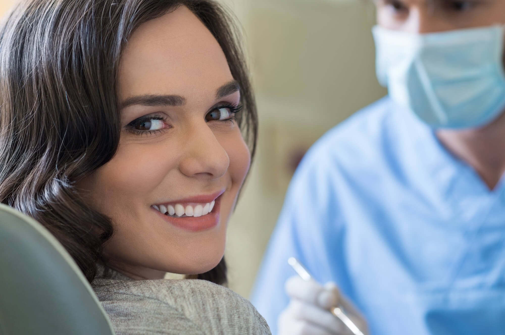 smiling young woman after Oral Surgery in Plantation
